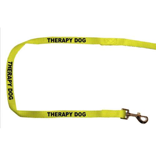 Therapy Dog - Fluorescent Neon Yellow Dog Lead