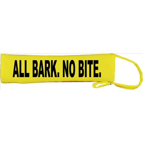 All Bark. No Bite - Fluorescent Neon Yellow Dog Lead Slip