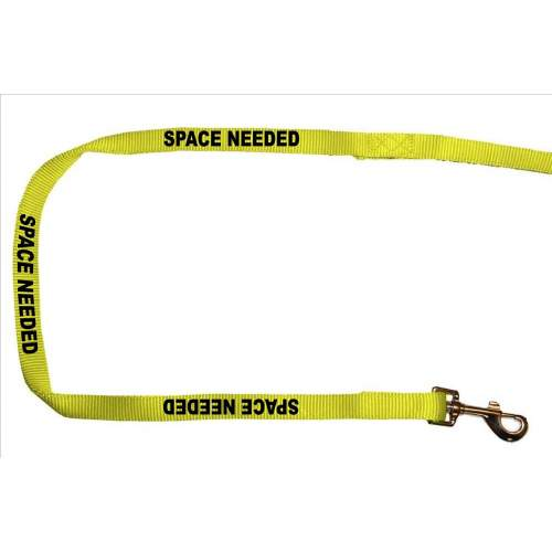 Space Needed - Fluorescent Neon Yellow Dog Lead